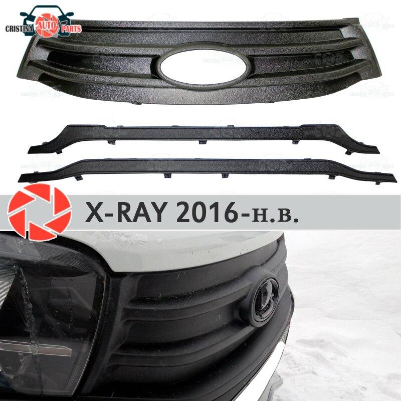 Radiateur de couverture d'hiver pour Lada x-ray 2016-plastique ABS en relief pare-chocs avant voiture style accessoires décoration