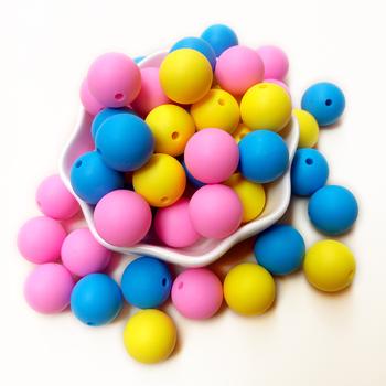 Joepada 10 sztuk 15mm silikonowe koraliki ząbkowanie dla naszyjnik do żucia z łańcuszek smoczka klipy kulki silikonowe miękka tekstura silikonowe gryzaki tanie i dobre opinie Pojedyncze załadowany Lateksu Nitrosamine darmo Ftalanów BPA za darmo 15mm silicone beads kat002 4 miesięcy ROUND Food grade silicone