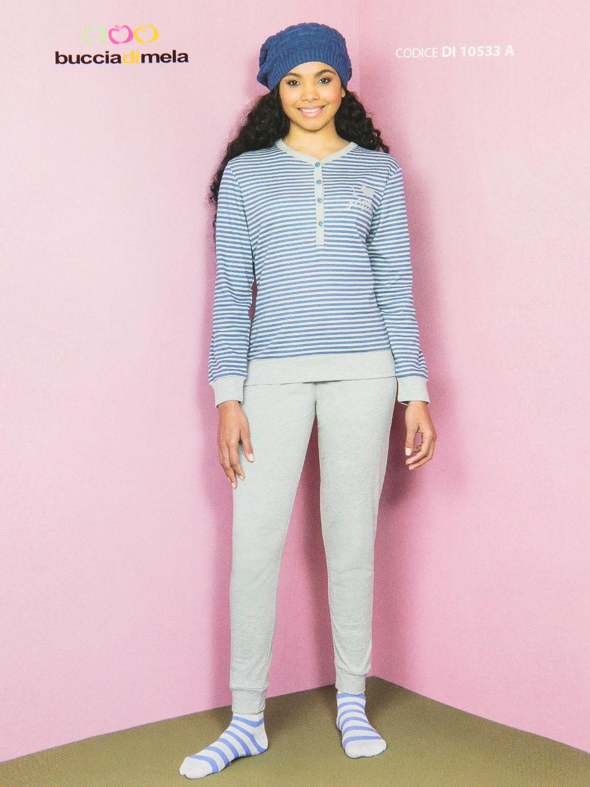 Pajamas Striped Printed Glitter