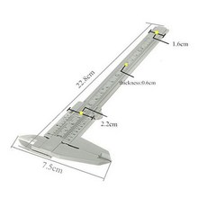 1 PC Gray 150mm Mini Plastic Sliding Vernier Caliper Gauge Measure Tool Ruler Wholesale P40