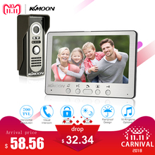 KKmoon 7 ''TFT LCD Filaire Vidéo Porte Téléphone Visuel Interphone Vidéo Haut-Parleur Interphone Système Avec Étanche Extérieur IR Caméra(China)