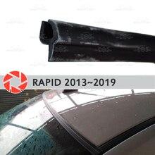 Дефлекторы для ветрового стекла для Skoda Rapid 2013 ~ 2019 Уплотнители для ветрового стекла защиты аэродинамический дождь Автомобиль Стайлинг Обложка pad