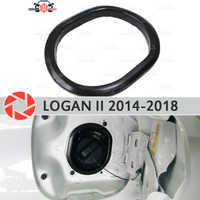 Couvercle dans la trappe d'ouverture carburant pour Renault Logan 2014-2018 garniture accessoires protection voiture style décoration cou de remplissage