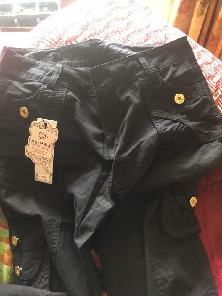 Plus Size Pantalon Femme Women Workout Cotton Military Combat Cargo Pants Overalls Ladies Straight Multi Pocket Trousers photo review