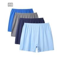2018 New Shorts Mens 4Pcslot Underwear Soft Boxers Cotton Boxer Men Solid Boxer Shorts Plus Size Boxers Mens Underwear Lot Boxers