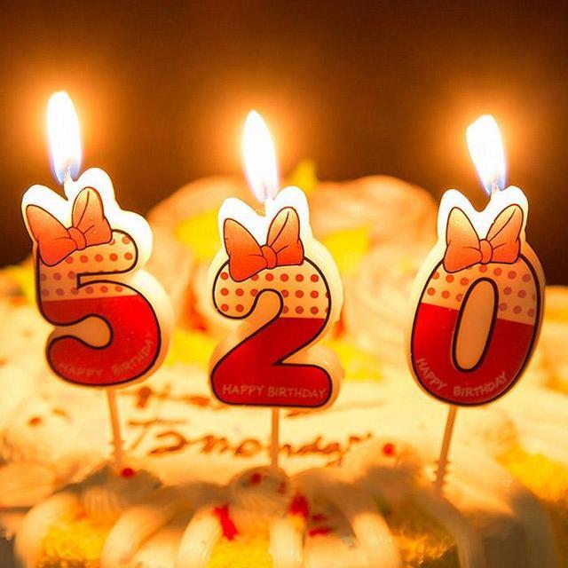 Sinh nhật Bánh Trang Trí Nến Số 0-9 Cho Bé Trang Trí Sinh Nhật Nến Ngày Lễ Tình Yêu Lãng Mạn Tiếp Liệu