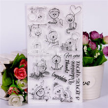 цены DLKSDIYCartoon animal Transparent Clear Stamp DIY Silicone Seals Scrapbooking / Card Making/Photo Album Decoration