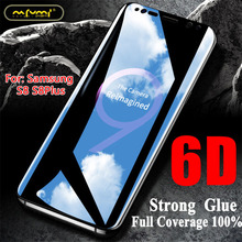6D Tempered Glass For samsung s8 screen protector curved glass s8Plus protection Full Cover Protective Film