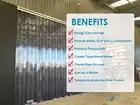 Arrowzoom 1 mm de espesor 4x7 pies habitación almacén puerta congelador plástico aislamiento térmico PVC tira cortina KK1173 - 6