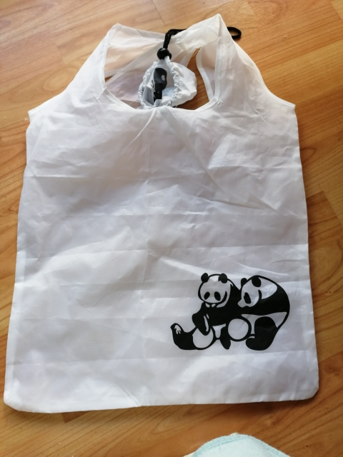 Cute Animal Green Supermarket Shopping Bag Portable Folding Large Storage Reusable Grocery Totes Eco-friendly Shopping Bags Eco photo review