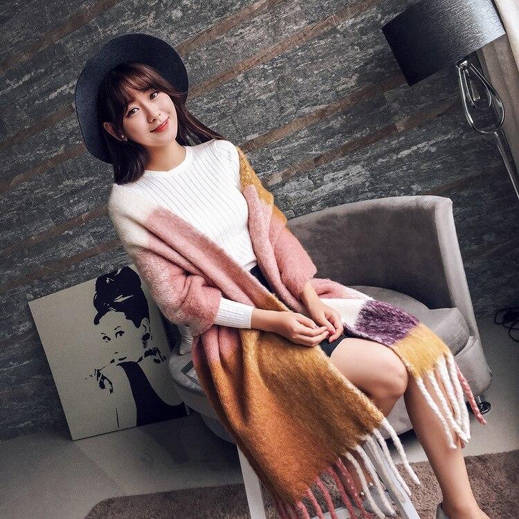 2017 HOT Luxury Brand Scarf Pashmina Cashmere Scarf Wrap Shawl Winter Scarf Women's Scarves Tassel Long Blanket Cachecol High Qu