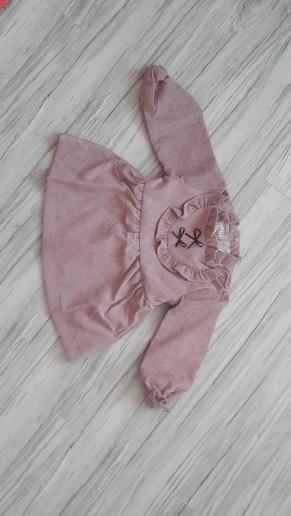 Spring Autumn Baby Girls Warm Dress Long Sleeve Korean Version Solid Color V-shaped Fungus Dress Paragraph Child Dress j2
