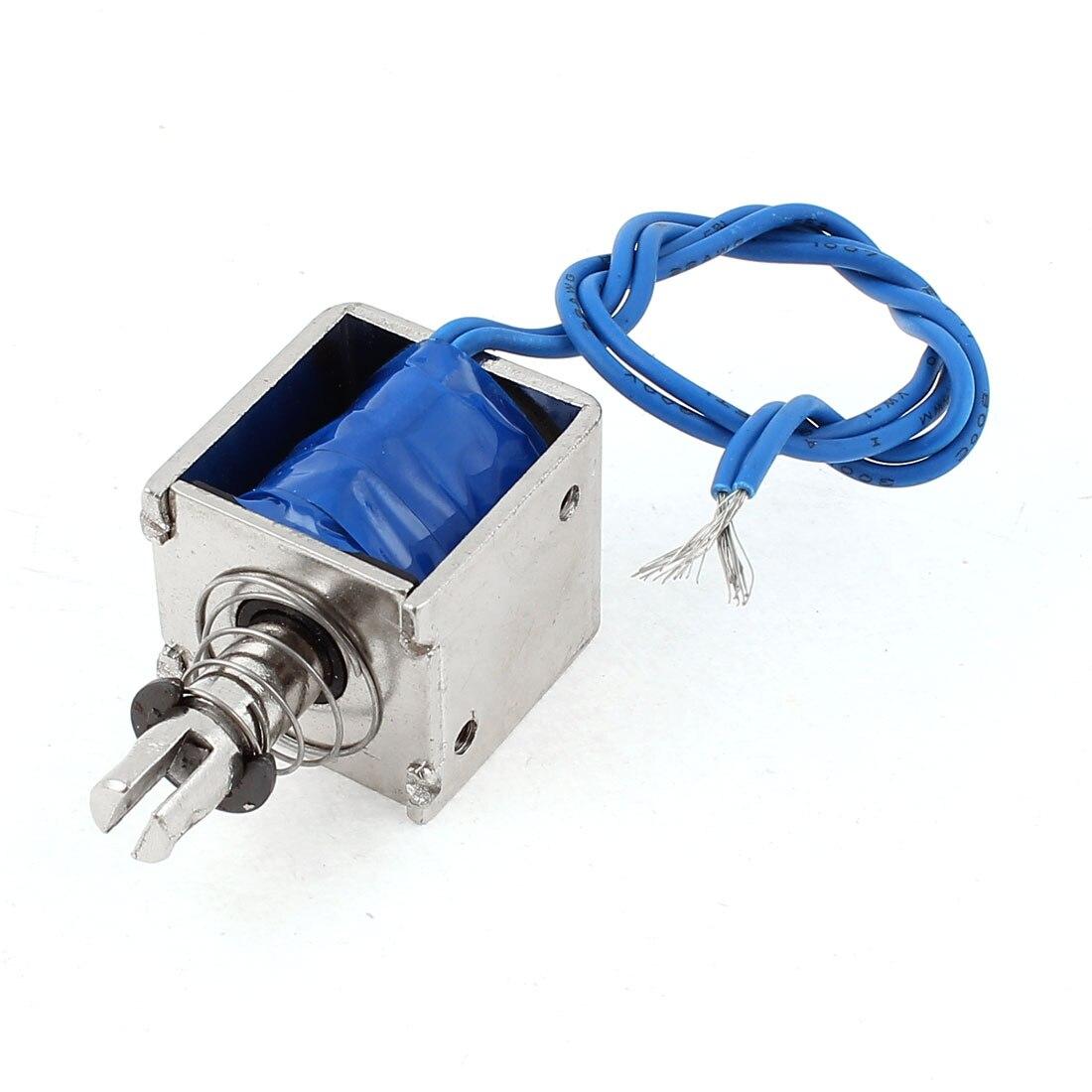 цена на UXCELL 12V 10Mm 2Kg 4.4Lb Push Pull Type Open Frame Solenoid Electromagnet