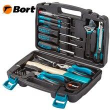 Набор ручного инструмента Bort BTK-32 (32 предмета, Сталь CRV, кейс, отвертки, молоток, плоскогубцы, кусачки, биты)