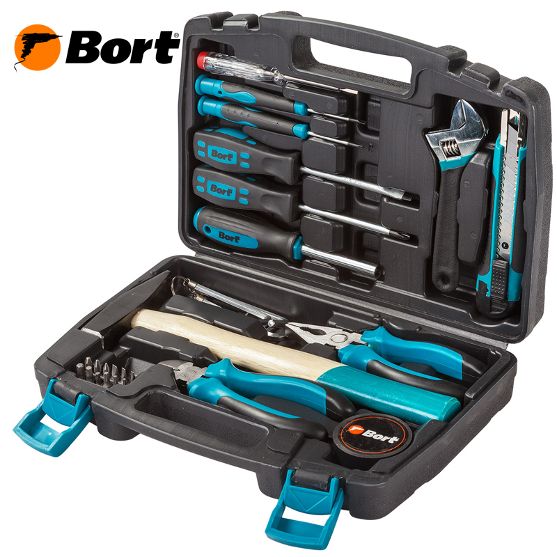 Household Tool Set Auto Repair Mixed Tool Combination Package Hand Tool Kit Toolbox Storage Case Socket Bort BTK-32 (32 pcs) magnified eyeglass repair kit
