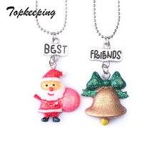 topkeeping brand cute best friends crutch santa claus bell