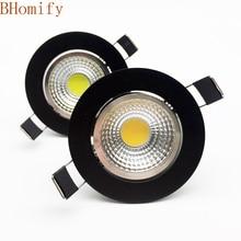 New arrivel LED Dimmable Led downlight lamp COB 3w 5w 7w 12w Spot light AC110/220V85-265V ceiling recessed Light Indoor Lighting цена