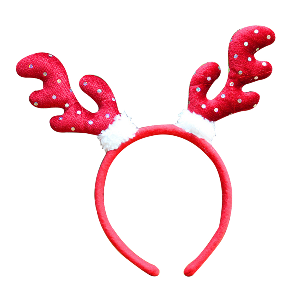 Kids Adult Reindeer Antlers Deer Horn Headband Christmas Party Costume Hair Band