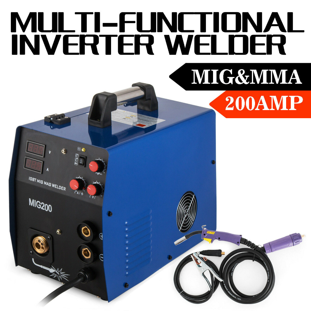 MIG-MAG <font><b>Inverter</b></font> Welding Machine <font><b>200</b></font> Amp + Electrode Welding <font><b>Inverter</b></font> image