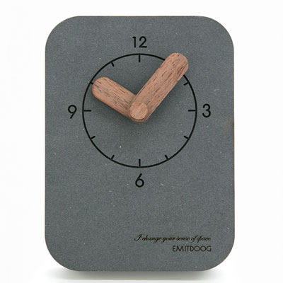 5 Emitdoog G74 Digital Concrete Promotional Desk Clock Square Photo