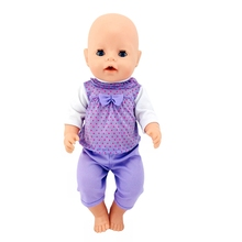 Clothes For Doll Born New Baby Fit 18 inch 43cm Purple Pink Hat Owl Doll Suit Clothes Accessories For Baby Birthday Gift baby born doll clothes fit zapf doll jumpsuit suit with cute hat doll pajamas sleeping clothes 18inch children birthday gifts