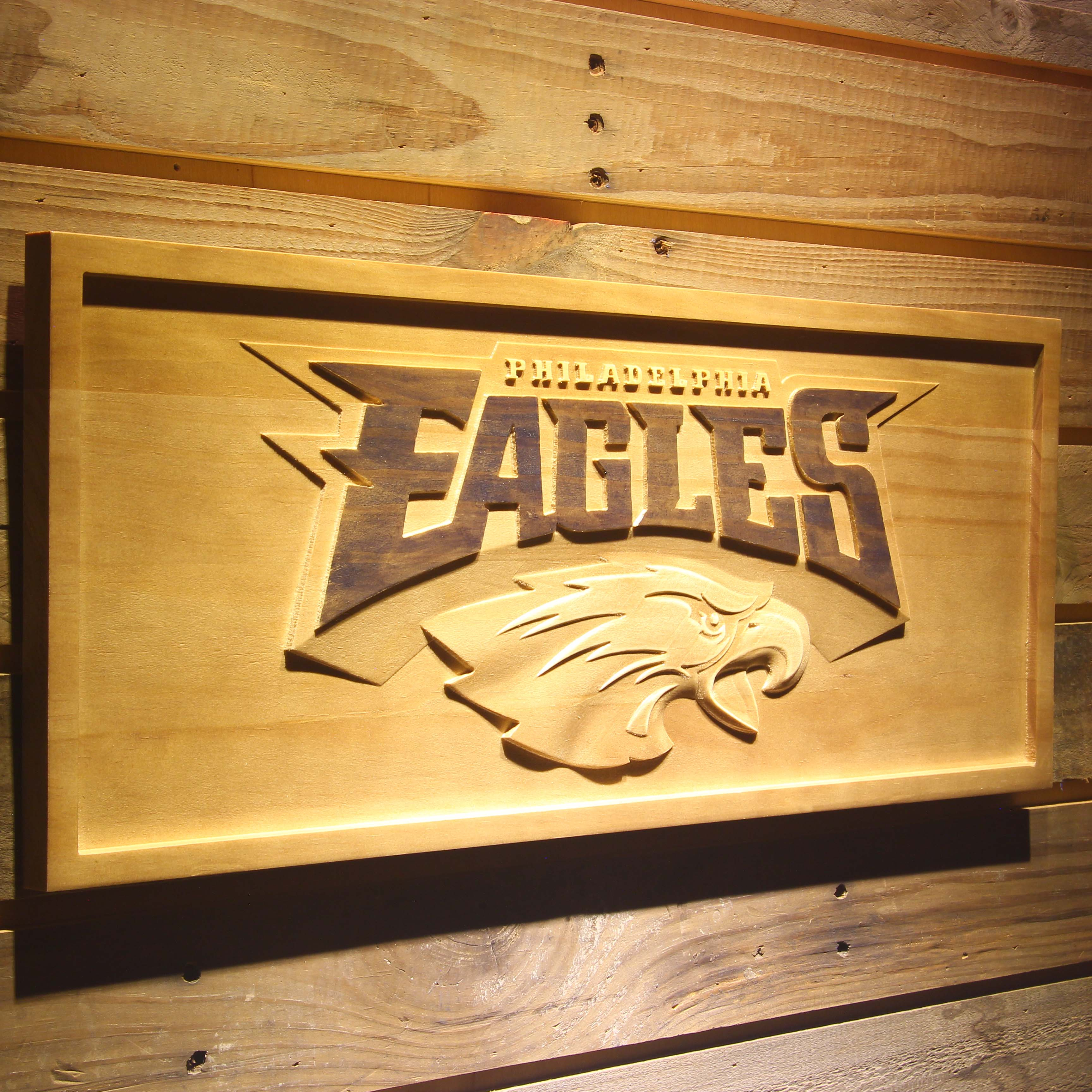 Philadelphia Eagles 3D Wooden Sign-in Plaques & Signs from Home ...