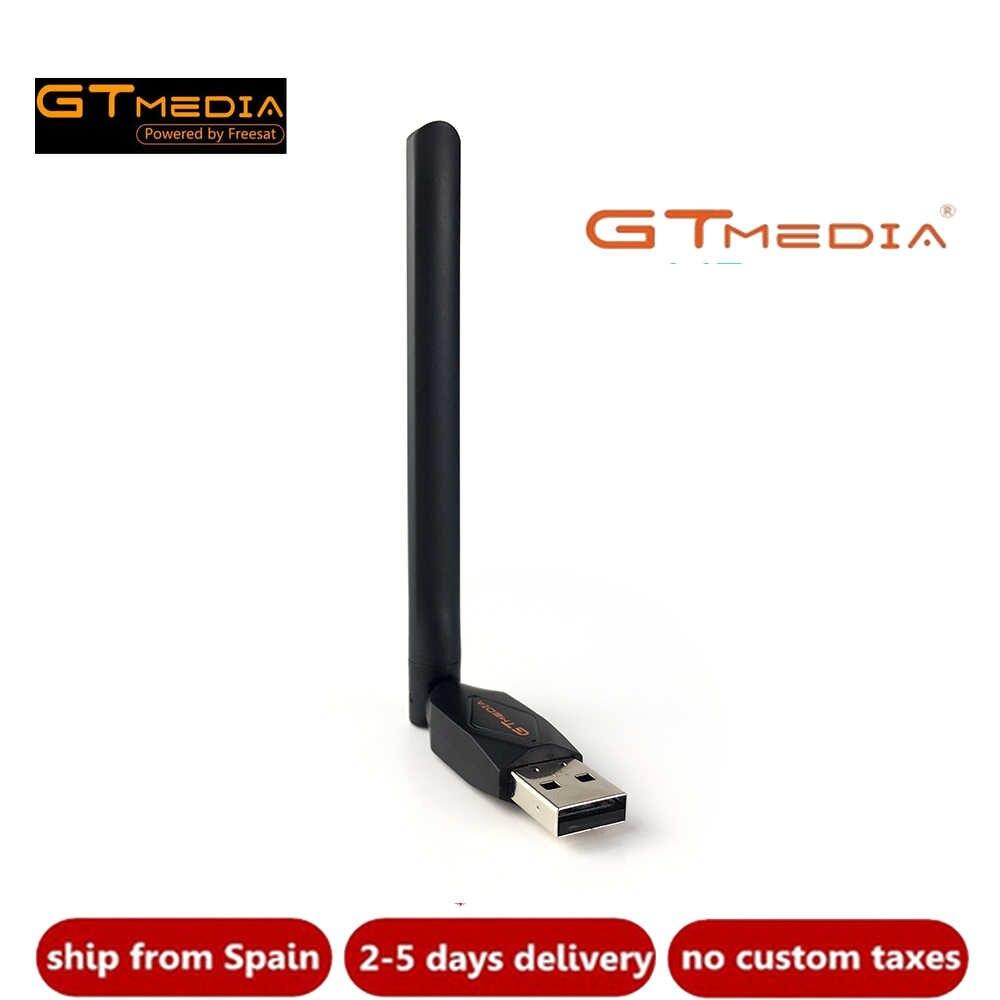 Gtmedia V8 Usb Wifi Met Antenne Werk Voor V7s Hd V7 Combo V7 Plus V8 Super Digitale Satelliet Ontvangers En andere Set Top Tv Box