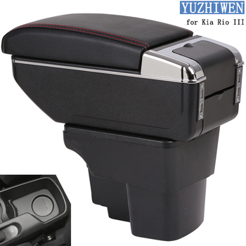 YUZHIWEN for Kia Rio armrest box Kia Rio 3 central Store content box cup holder 2012-2016 Automotive retrofit accessories