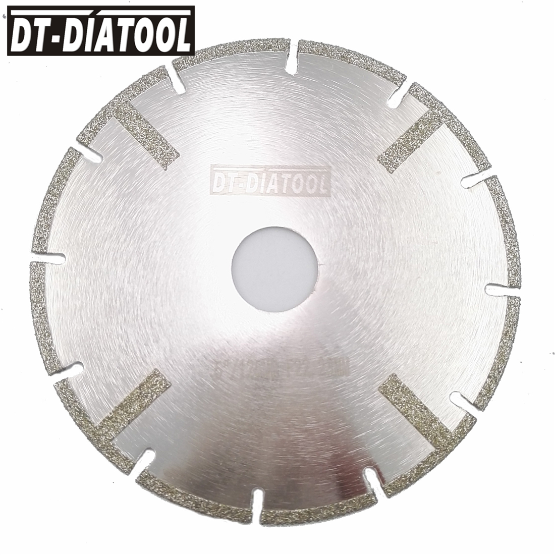 DT-DIATOOL 1pc 5inch Electroplated Diamond Saw Blade Bore 22.23MM With Protection 125MM Reinforced Cutting Discs For Marble Tile