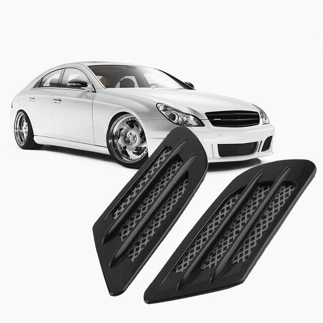 IZTOSS 2pcs/set ABS Plastic Left/Right side Car Sticker Air Flow Vent Hole Cover