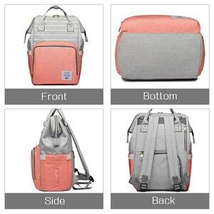 Image 3 - Lequeen Diaper Bag Nursing Care Baby Bag Stripe Maternity Bag Travel Nappy Bag Organizer Waterproof Maternity Patchwork Bag