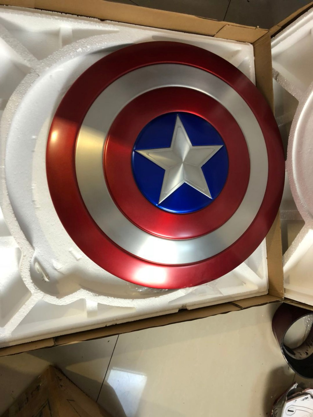 [Metal Made] Captain America Shield 1:1 Avengers Weapon Replica Including Stand image