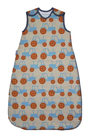 The Gro Company Trundling Tractors Baby Sleeping Bag Pure Cotton 1.0 Tog  0-6 /6-18 /18-36 Months