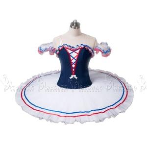 Image 1 - Chamas de paris traje branco ballet tutu profissional ballet tutu bt636 colombina traje competição feito sob encomenda tutu roupas