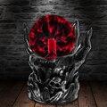 Черный череп рука Тесла Стекло плазменный шар смолы освещение лампы вечерние магический шар электростатический Falshing мяч подарок