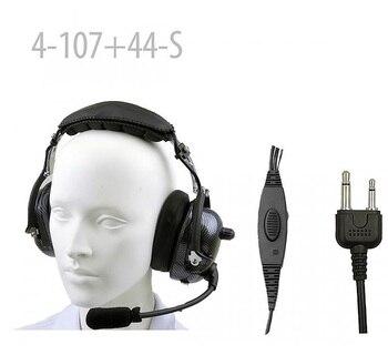 Carbon Fiber Pattern Heavy duty Noise Cancelling Headset for IC-T7H IC-W32A IC-F3 IC- F3S IC- F4 IC-F4S IC- F4TR VX200-VX500