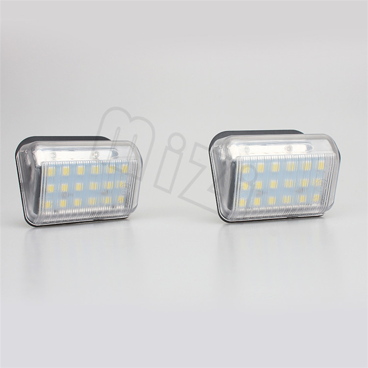 2Pcs Car LED License Plate Light 12V For Mazda 6 03- CX-5 13- CX-7 White SMD3528 LED Number Plate Lamp Bulb Kit 2pcs car led number license plate lights lamp frame 12v white smd led bulb kit for chevrolet cruze camaro 2010 2014 accessories