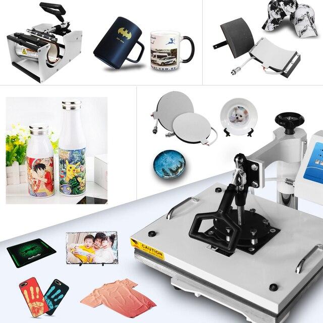 30*38 см 8 в 1 комбинированный термопресс принтер машина 2D Термопринтер для крышки кружка пластина футболки печать