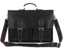 Men Briefcase Handbag Cow Leather 15 inch Business Laptop Bags 2018 Man Travel Large Black  File Book Shoulder Crossbody Bags стоимость
