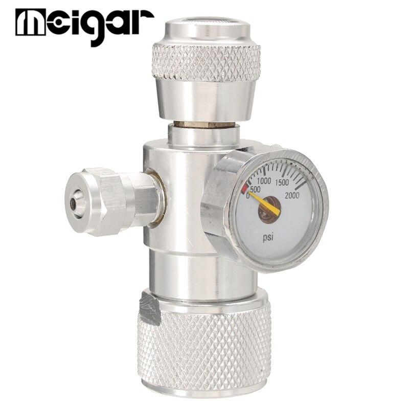 HSL Co2 Planta Musgo Aquário Único Medidor de Pressão JIS m22-14 Regulador Manômetro Liga de Alumínio Do Tanque de Peixes Do Aquário Acessórios
