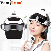 3D Electric Head Massager Intelligent Air Pressure Vibration Finger Press Relaxation With Music Soothing Relax Helmet