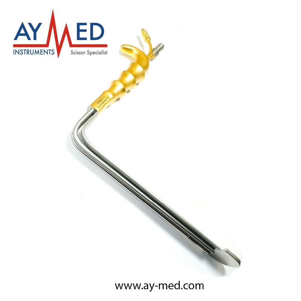Epstein Plastie Abdominale Écarteur, Lame Droite Avec fibre Optique Et tube d'aspiration outils instruments de chirurgie plastique ciseaux