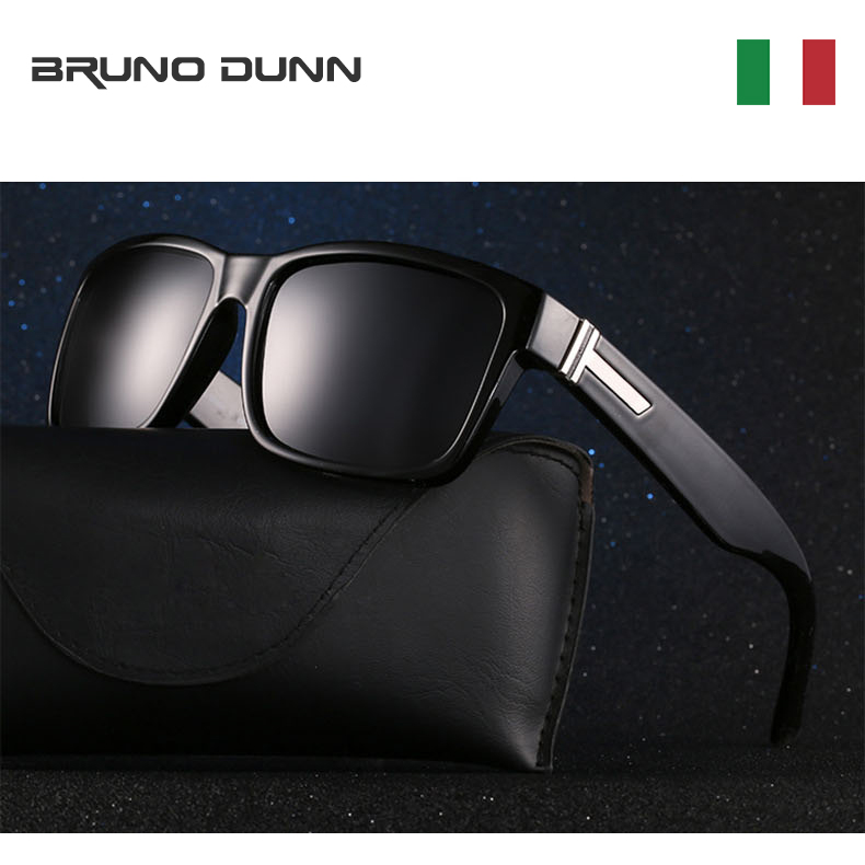 Bruno Dunn 2020 Sport Men Sunglasses Polarized Shockingly mirror Colors Sun Glasses Male Outdoor Driving Sunglass With Box(China)
