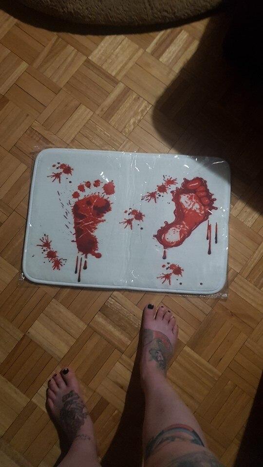 Halloween Bloody Bath Mat photo review