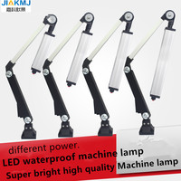 Led 8 40W 24V/220V Miniature Aluminum Long Arm Collapsible Universal Work Light Shockproof Oilproof Waterproof lathe lamp