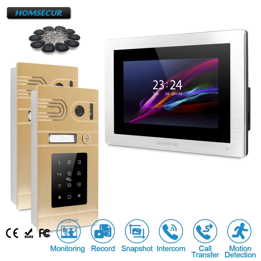 HOMSECUR 7 Video&Audio Home Intercom+Touch Screen Monitor for Home Security  BC071-G+BM714-SHOMSECUR 7 Video&Audio Home Intercom+Touch Screen Monitor for Home Security  BC071-G+BM714-S