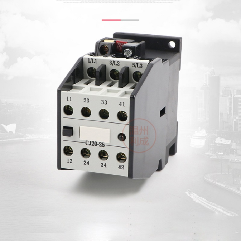 AC contactor CJ20-25 single phase 220v380v, three 110v, 2NO+2NC 25A