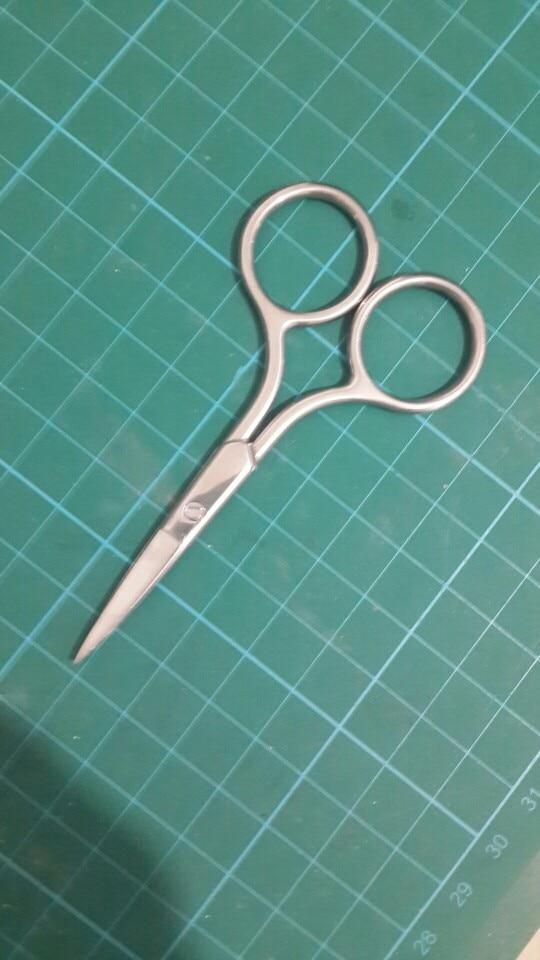 ETEREAUTY Stainless Steel Nose Hair Scissors Beard Eyebrow Facial Hairs False Eyelashes Trimmer Scissors Sharp Edge Blades