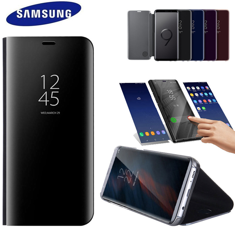 100% Officielle Originale Samsung Galaxy s9 S9 Plus S9 + SM-G965 G9650 Clear View Debout Couvercle Rabattable cas noir Spécial offre