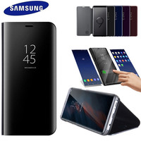 100% Original Official Samsung Galaxy s9 S9 Plus S9+ SM G965 G9650 Clear View Standing Cover Flip case black Special offer